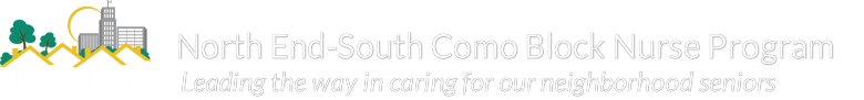 North End South Como Block Nurse Program logo and home link